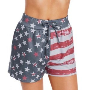 Pants - 🎇🇺🇸4th of JULY: American Flag Casual Shorts🌟🎆